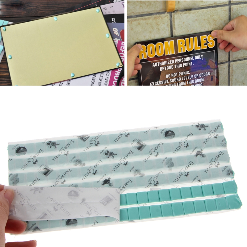 Hardware Open-Minded 75g 120pcs Blue Tack It Adhesive Clay Reusable Removable Adhesive Putty Tabs Damom