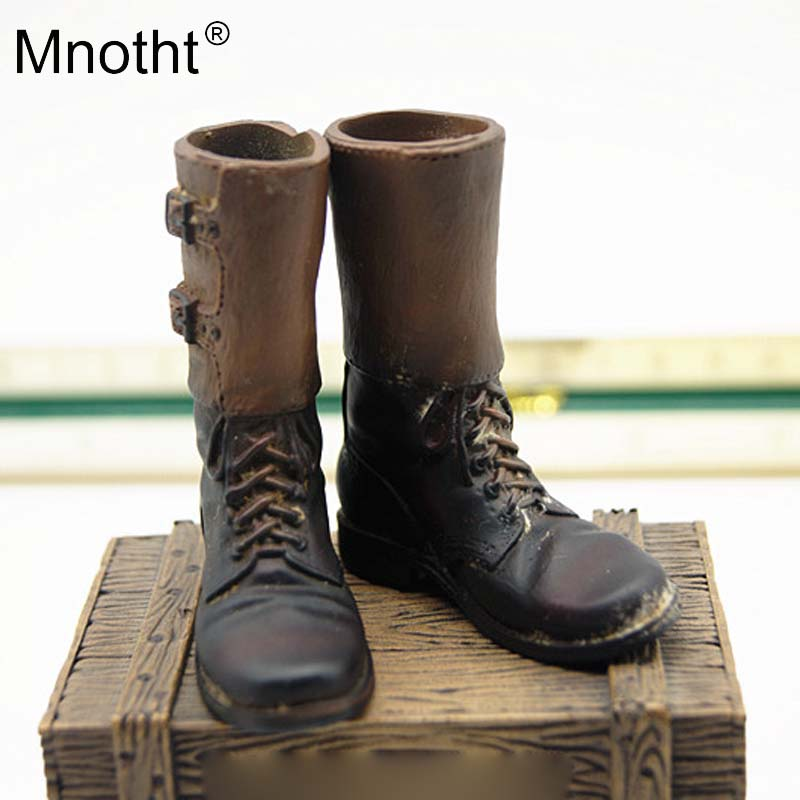 Mnotht WWII US Army Paratroopers Leggings boots Model 1/6 Scale Airborne Division Shoes For 12in Action Figure Toys Hoobies m3