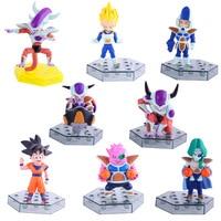 8pcs/lot figurines Dragon ball z action figures dragonball super trunks goku blue super saiyan god vegeta toys