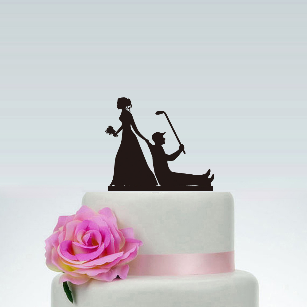 VW Beetle Convertible Acrylic Wedding Cake Topper