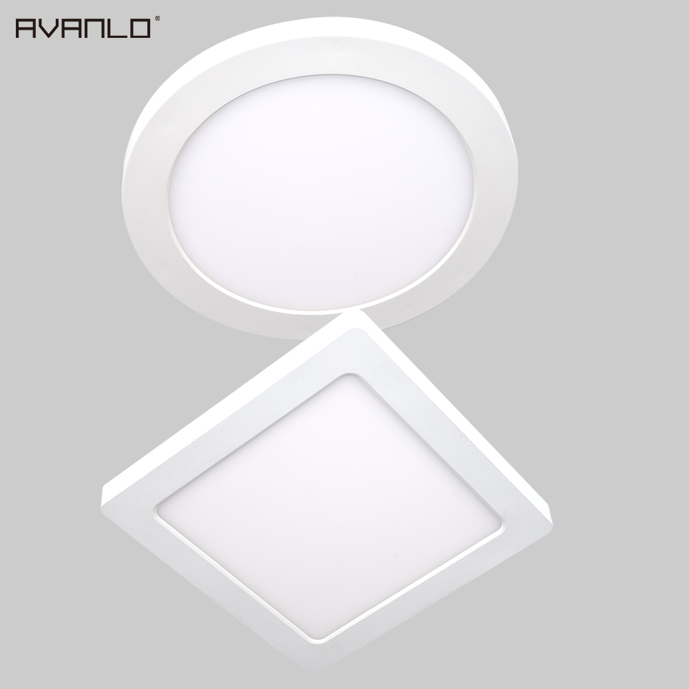 New arrive Ultra Bright 5W/6W/12W/18W/24W LED Round/Square Ultra thin Design 85-265V LED Panel light for indoor lighting CE UL
