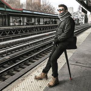 Image 1 - Складной стул для рыбалки, Открытый, в очереди ожидания, артефакт, портативный светильник для путешествий в метро, мини, портативное сиденье, телескопическое