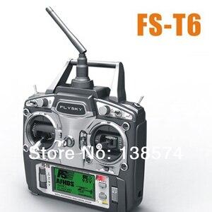 Flysky FS-T6 V2 2,4 ГГц 6CH ЖК-передатчик и приемник режим 2