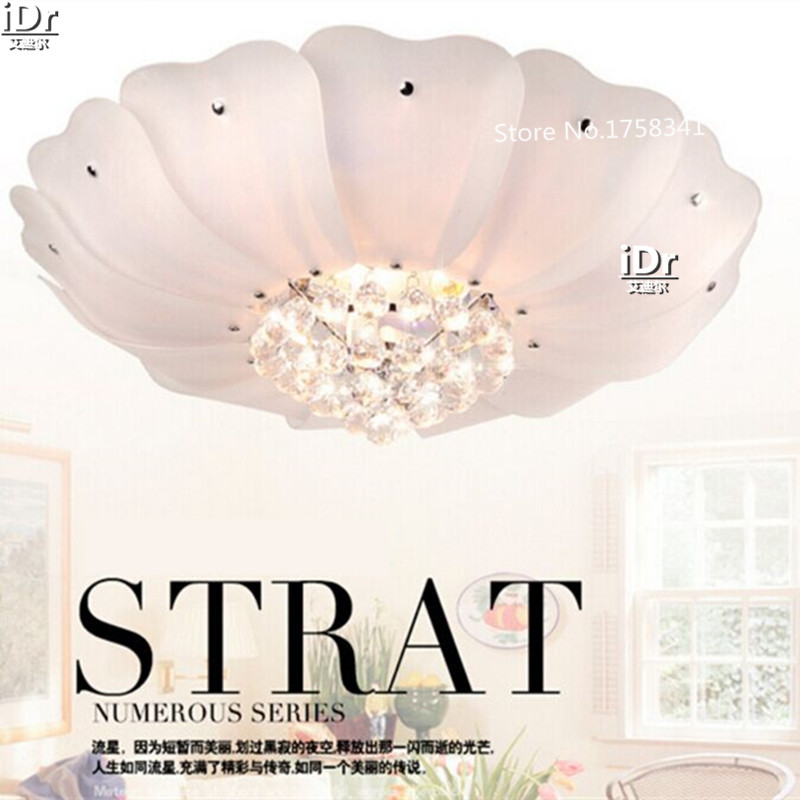 LED Cristal d'économie D'énergie Lumière De Luxe lampe salon chambre restaurant Cristal lampes de plafond avec LED lampes blanc lotus