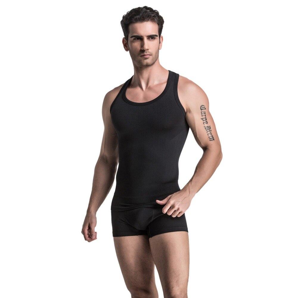 Men clothing tank top men underwear vest body building for Best shirt to wear under ballistic vest