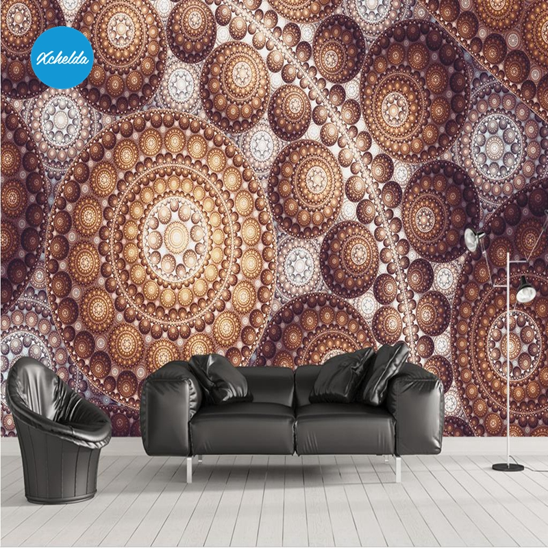 XCHELDA 3D Mural Wallpapers Custom Painting Arab Pattern Design Background Bedroom Living Room Wall Murals Papel De Parede custom 3d wall murals wallpaper luxury silk diamond home decoration wall art mural painting living room bedroom papel de parede