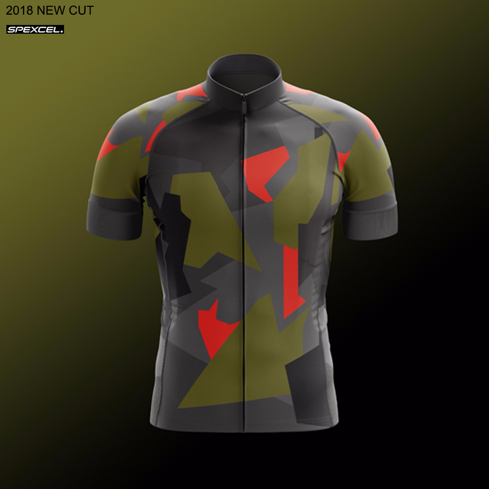 SPEXCEL 2018 NEW camouflage Pro Cycling Jersey Short Sleeve Race cycling gear road bike shirt High quality bicycle clothes