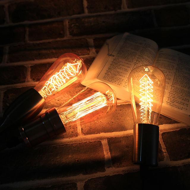 Retro lámpara incandescente decoración Ampolla Vintage Edison bombilla E27 40 W 220 V ST64 G95 vidrio de bombillas de filamento para decoración de casa