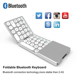 Image 2 - AVATTO NEW B033 Portable Bluetooth Folding Mini Keyboard,Foldable BT Wireless Touchpad Keypad For IOS/Android/Window ipad Tablet