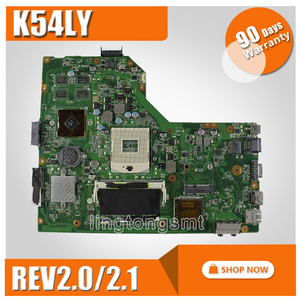 K54LY for ASUS laptop motherboard X54HR K54HR X54H x54hy K84LY HM65 REV2.0/2.1 mainboard with graphic 1G 216-0809000 ytai for asus a54ly x54ly x54hy k54hr a54hr k54ly laptop motherboard rev2 1 intel hm65 ddr3 pga989 mainboard 100% working