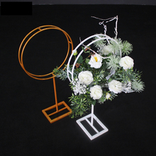 Wedding Background Wrought Iron Round Flowre Stand Wedding T Station Road Lead Stage Metal Bracket Flower Arrangement Decoration цена 2017