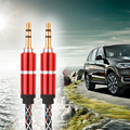 AUX Cable Braided Fabric 3.5mm Jack Male To Male M/M Stereo Audio AUX Auxiliary Cable for PC iPod MP3 CAR for Samsung iPhone