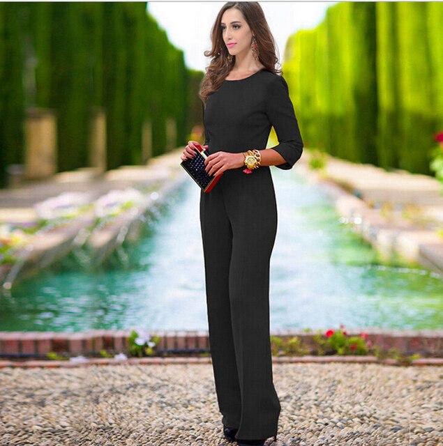 С длинным рукавом боди combinaison femme sexy черный комбинезон свободные комбинезон элегантный комбинезон спинки комбинезон элегантный комбинезон 11