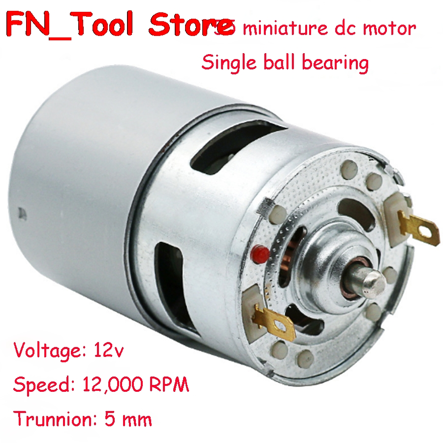 High power 12V-24V DC Motor 775 Large Torque Ball Bearing Tools Low Noise 12000 r/min