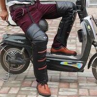 1 Paar Motorrad Knie Pads Schutzfolie Guards Getriebe Kniepolster Halten Warme Windschutz