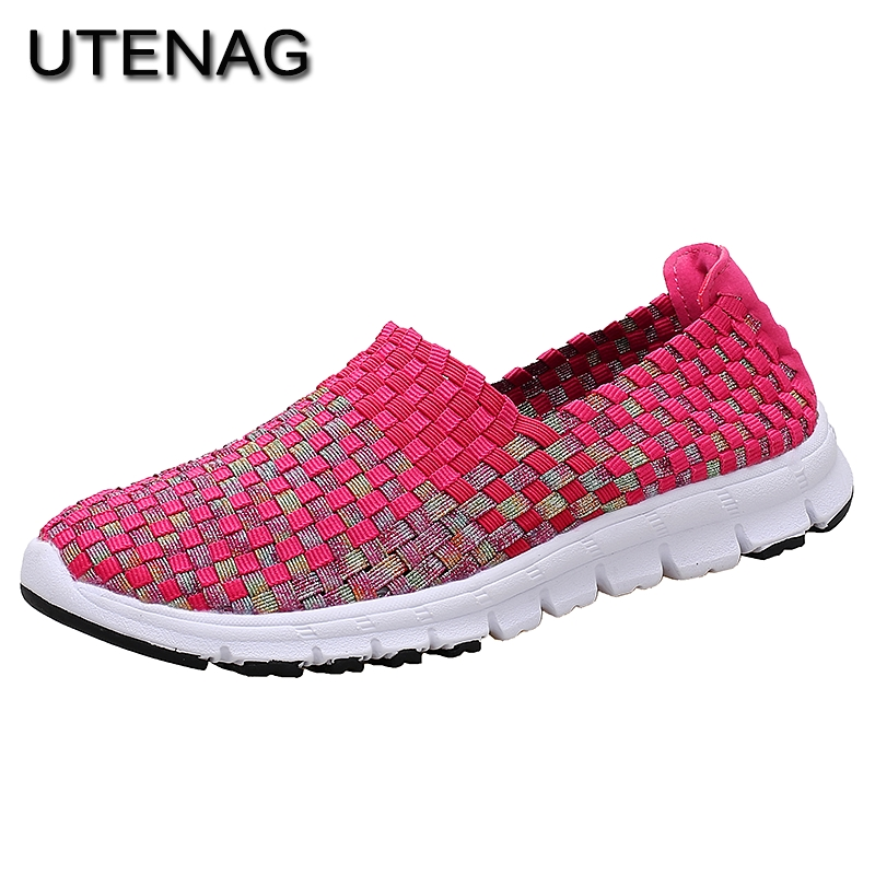 Summer 2018 Fashion Women Breathable Mesh Weave Shoes Mixed Color Checkered Comfortable Lightweight Casual Sneakers Hot Sale women casual shoes 2018 summer cool breathable handmade female woven footwear fashion comfortable lightweight wovening sneakers