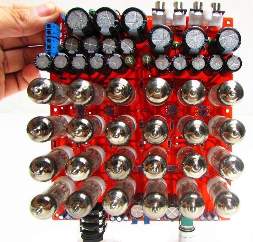 Douk Audio 24PCS 6J1 Vacuum Tube Preamp Pre-amplifier HiFi Headphone Amplifier Free Shipping zhi lai salar t1 induced digital tube headphone preamp boldly 2 channel audio inputs with switch hifi amplifier