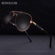 SUNOCCHI Vintage Sunglasses Men Polarized Fashion Classic Pilot Sun glasses Fishing Driving Goggles Shades For