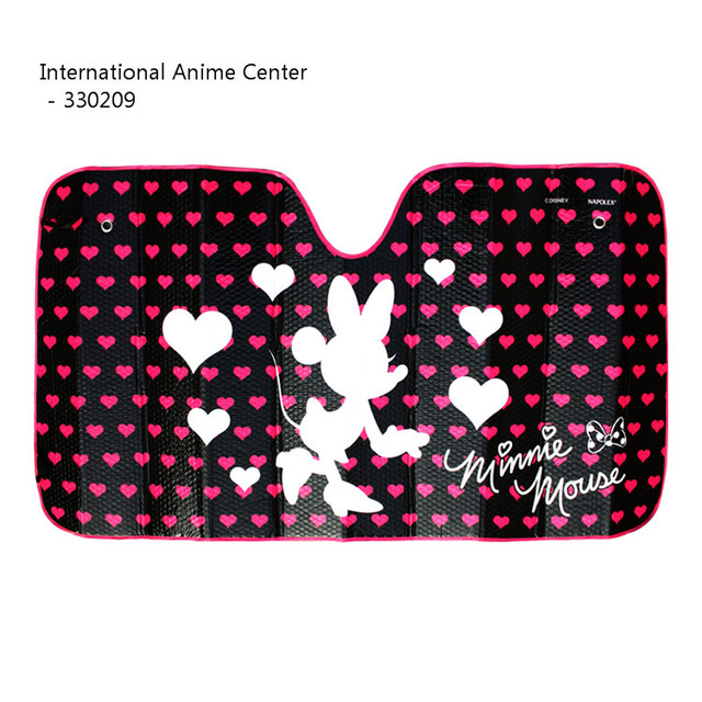 NAPOLEX Cartoon Minnie Mouse Heart Pattern Front Window Sunshade Car Foils Windshield  Visor Cover Car UV 42764475ba1