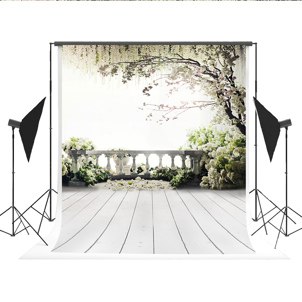 150X220cm(5*7ft)Kate Backgrounds For Photo Studio Backdrops White Green The Open-air Terrace Flowers Tree For Wedding 200 300cm backgrounds for photo studio photography backdrops white green the open air terrace flowers tree for wedding