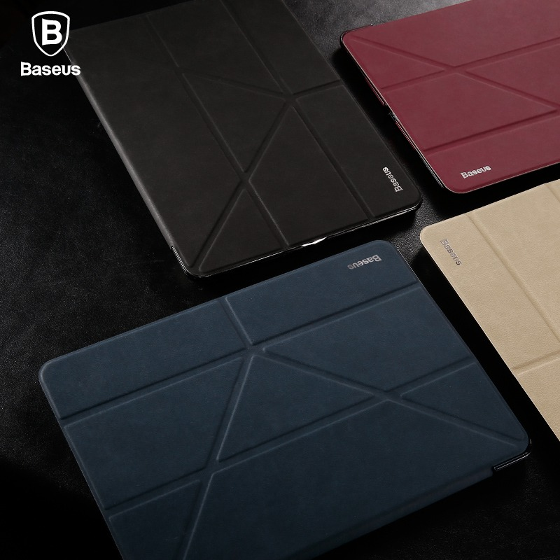 BASEUS Brand Simplism Y-Type 4 Ways Standing Tablet pu Leather Case For Apple iPad 9.7 inch 2017 Multi-Function Smart Cover