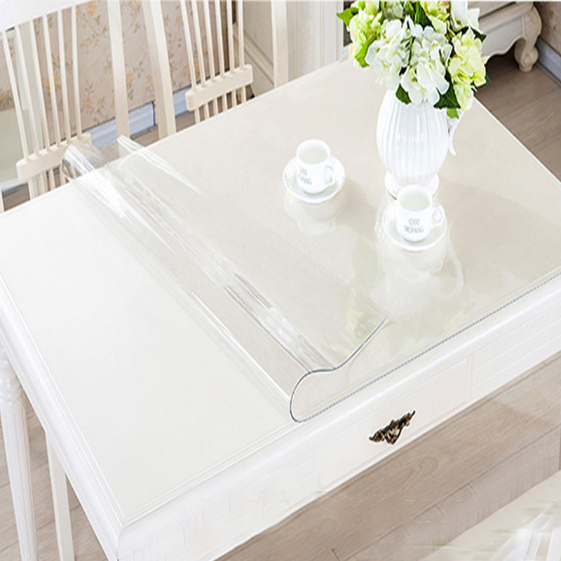 PVC Waterproof Plastic Table Cloth Cover Transparent Kitchen Dining Place Mat