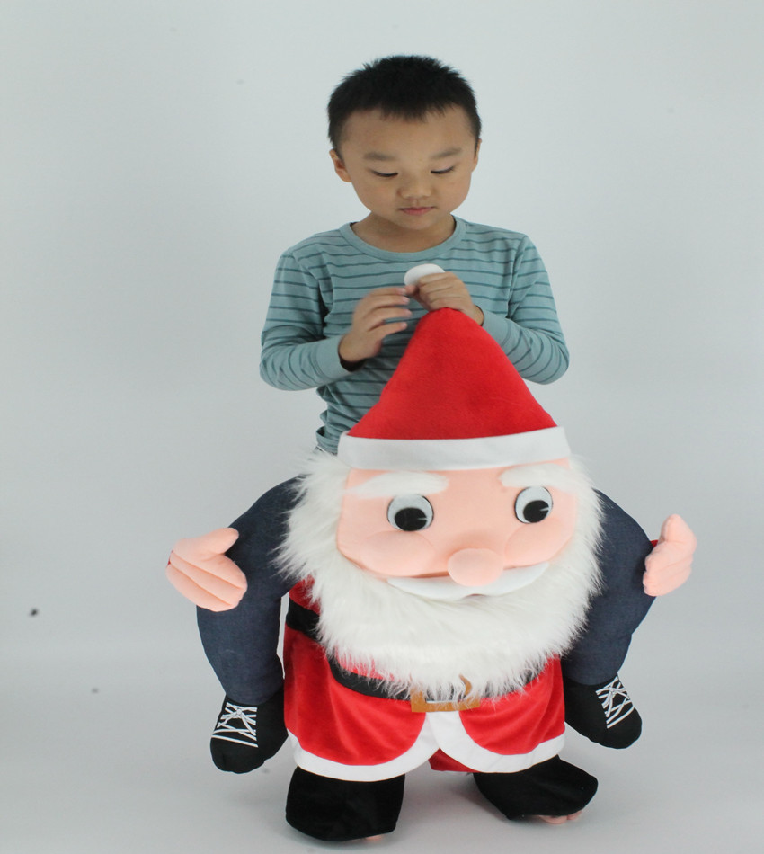 Santa Claus Ride On Mascot Cosplay Costumes Piggyback Bavarian Oktoberfest Clothes Halloween Christmas Make-Up Party Fancy Dress adult christmas santa claus costumes flocking rabbit fur fancy cosplay santa claus clothes good quality costume christmas suit