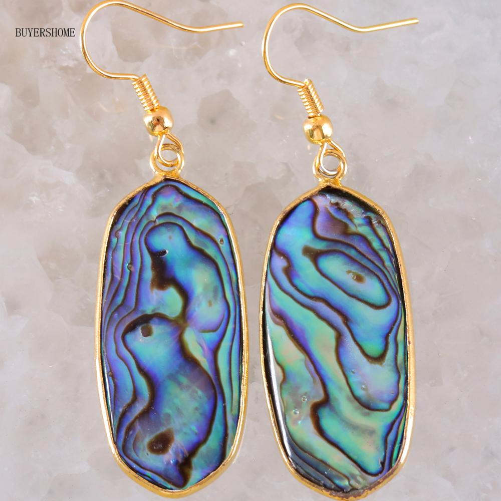 An Abalone shell for jewellery making in blue 40x30mm