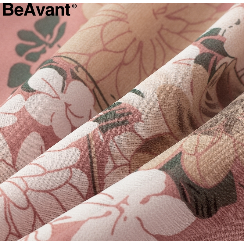 BeAvant Bohemian print summer skirts womens Ruffle pleated floral short boho skirt female High waist chiffon beach mini skirt 11