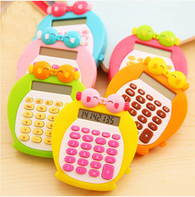 South Korea kiss fish cute cartoon mini student pocket calculator 4 color
