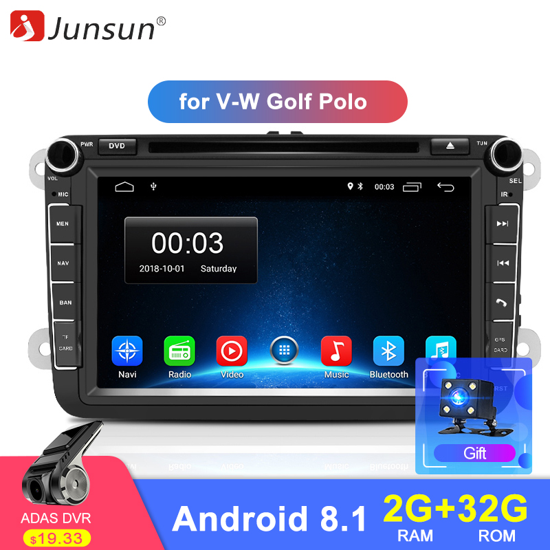 Junsun 2GB 32GB Android 8 1 Car DVD Radio Multimedia Video Player GPS Navigator for Volkswagen