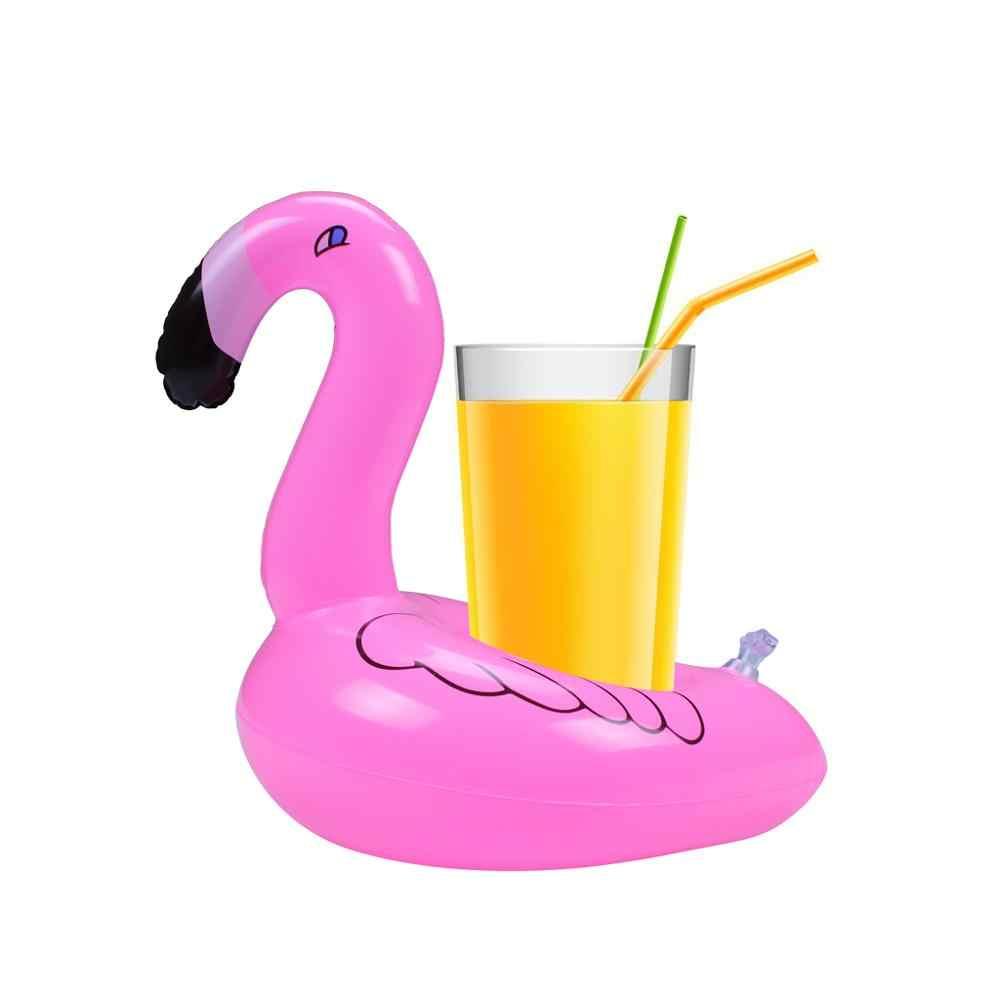 5x Надувные Матрасы для чашки надувной фламинго напитки подстаканник бассейн поплавки бар подставки размещении устройств розовый es1533