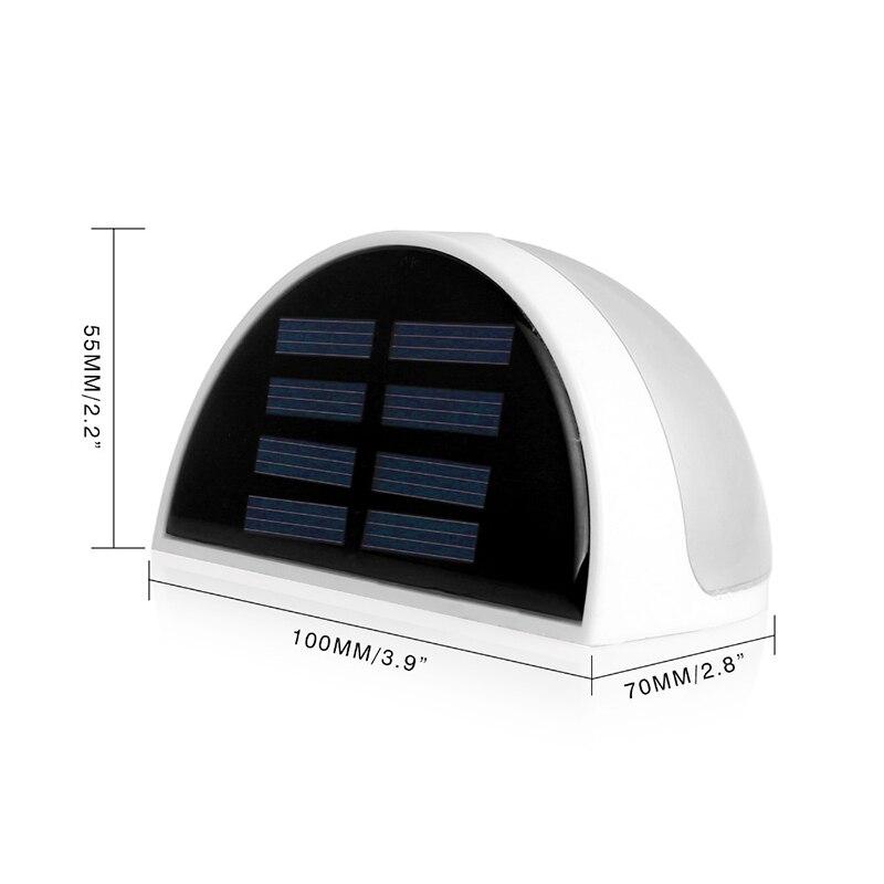 Водонепроницаемый напольный Панели солнечные огни 6 свет Сенсор Мощность забор Путь Бра Освещение