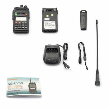 Wouxun KG-UV6D Dual Band Two Way Radio with 1700mAh Battery CE FCC Approval UV6D KG-UV6X UHF VHF Ham Radio Long Distance SOS