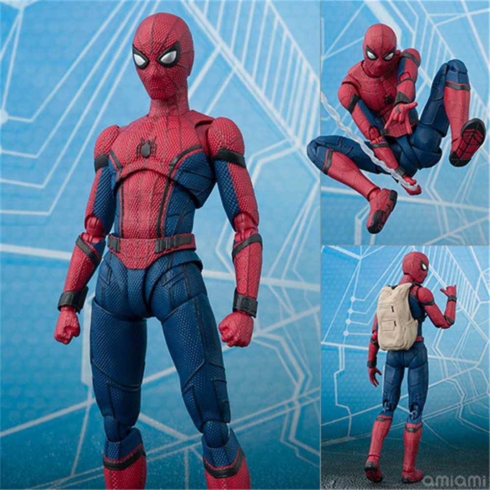 FMRXK 14cm SpiderMan PVC Action Figure DC Comics Superhero Spider Man Homecoming Movie Collection Model Toy Kids Gift superhero spiderman movable figure spider man homecoming pvc action figure model toy boxed