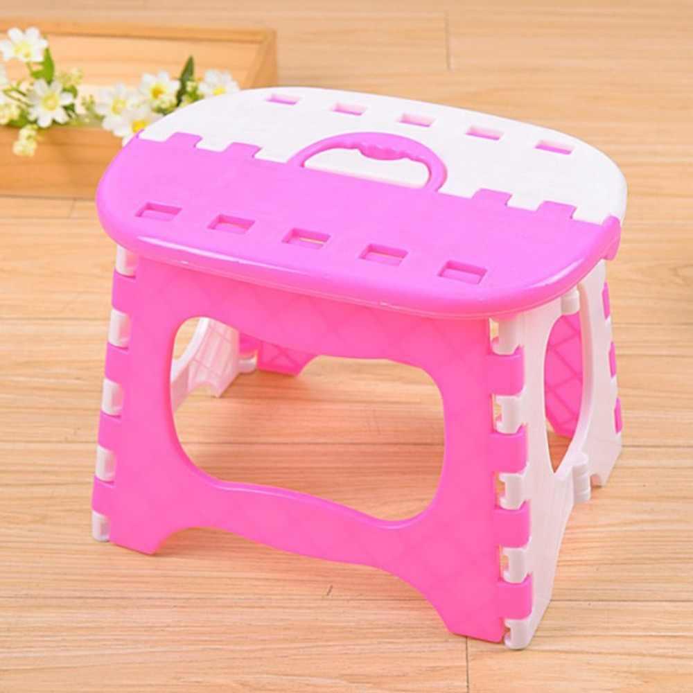 Пластмассовый складной стул с ручкой легкий открытый Крытый складной стул для взрослых детей отлично подходит для кухни