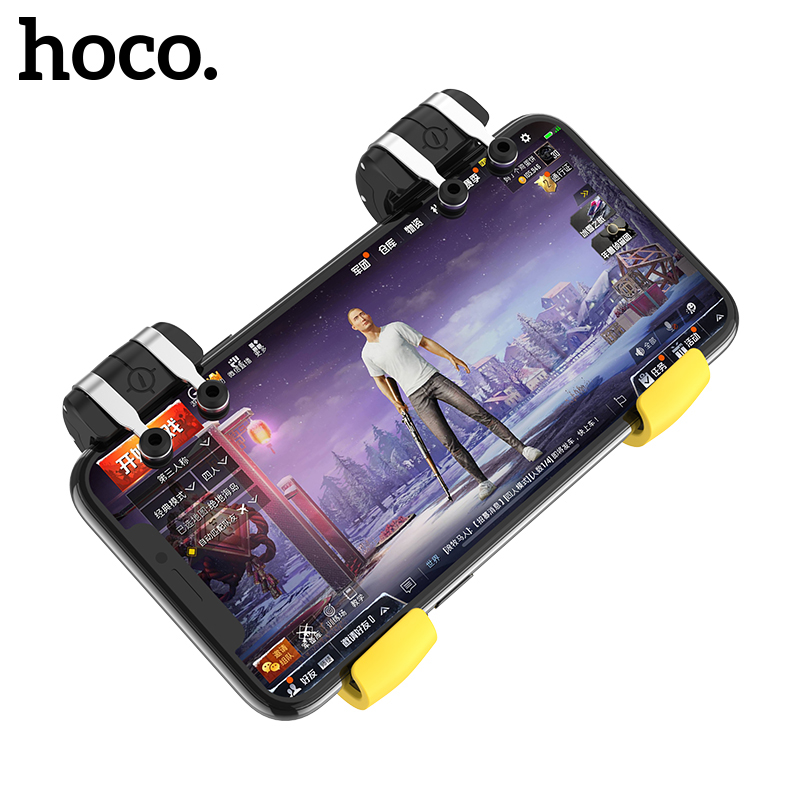 HOCO Pubg Mobile Controller Smart Phone Gaming Trigger for PUBG Gamepad Shooter Joystick Fire Button for iPhone Android Game Pad