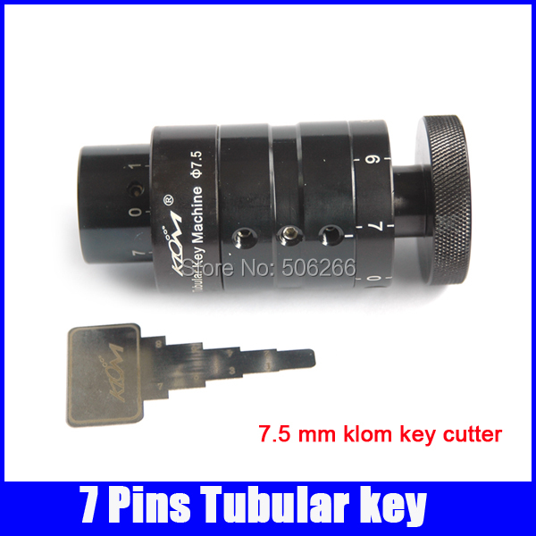 Free shipping 7.5 mm 7 pins tubular klom key cutter machine professiona locksmith supplies