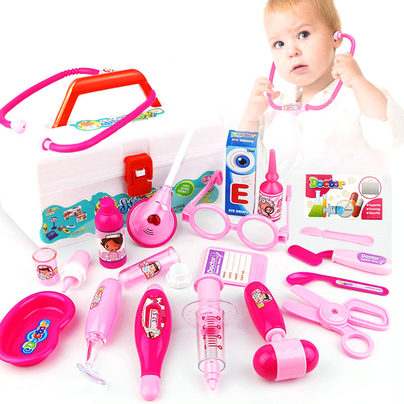 Baby Doctor Toy Play Sets Children Pretend Play Nurse Medicine Kits Dentist Dolls Classic Educational Toys for Children Girl