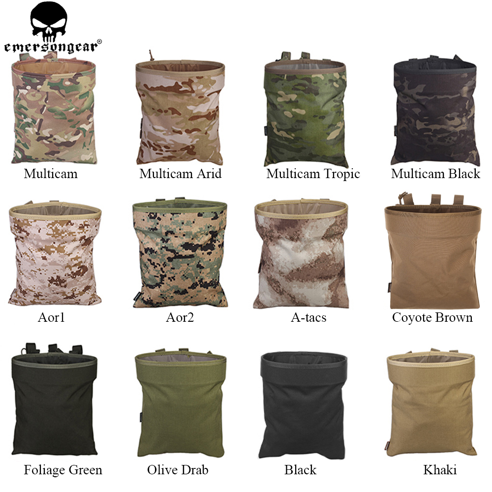EMERSONGEAR Drop Pouch Tactical Sundries Folding Dump Pouch Airsoft - Jakt - Foto 6