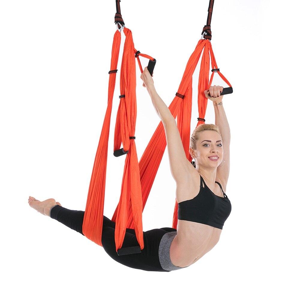 Yoga hamac balançoire Parachute entraînement élingue Anti gravité exercice décompression hamac Yoga Gym suspendu Extension sangle