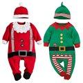 Мода детская одежда Рождественские подарки детские комбинезон цельный костюмы новорожденный одежда с длинным рукавом одежда set + hat Горячая продажа