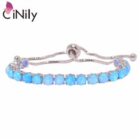 CiNily Created Blue White Fire Opal Silver Plated Wholesale Hot Sell Fashion Jewelry For Women Gift