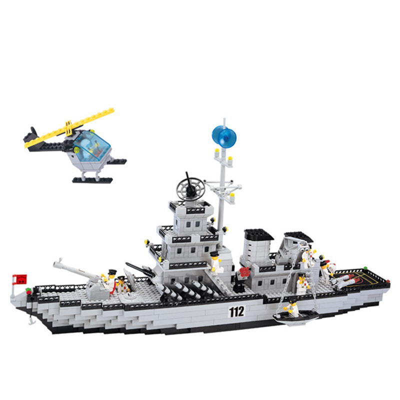970pcs Children's educational building blocks toy Militaryaircraft carrier Compatible Legoingly city technic DIY figures Bricks-in Blocks from Toys & Hobbies    1