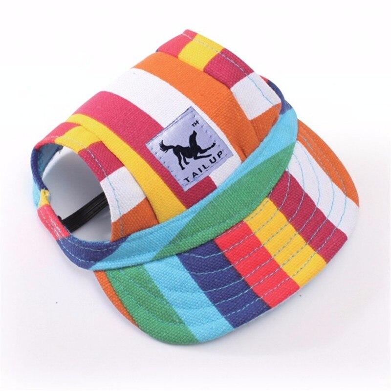 개 야구 모자 여름용 캔버스 모자 S M 사이즈 소형견 용
