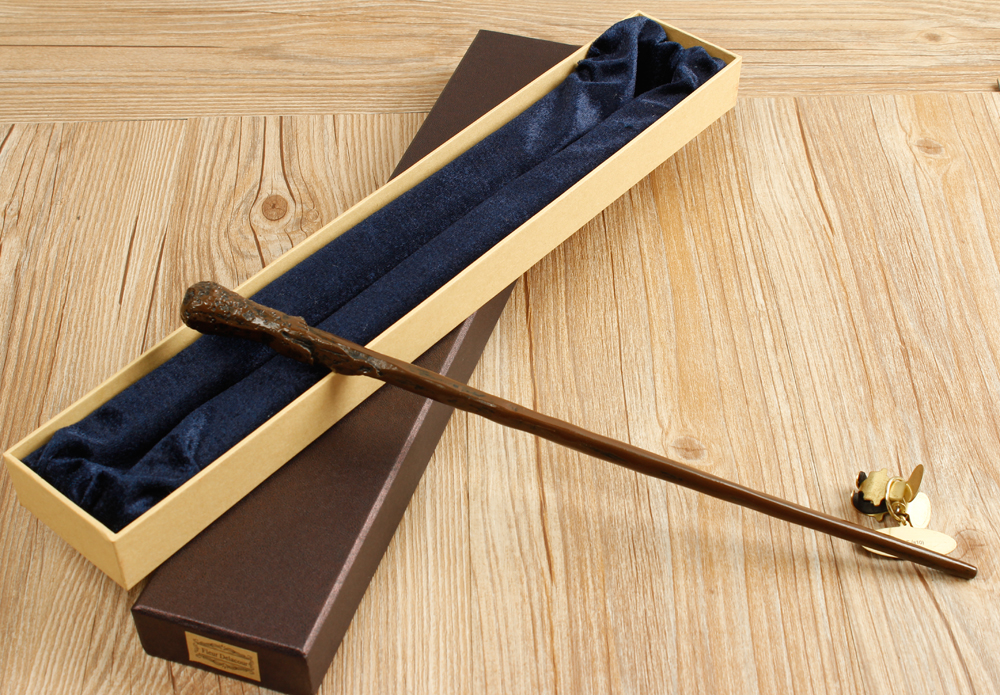 Colsplay Metal Core Newest Quality Deluxe COS Ron Weasley Magic Wands Stick with Gift Box Packing