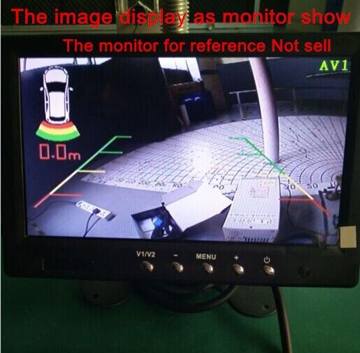 parking sensor work for BMW original video image car reverse video parking with 4 radar sensor for 12V any car styling detector