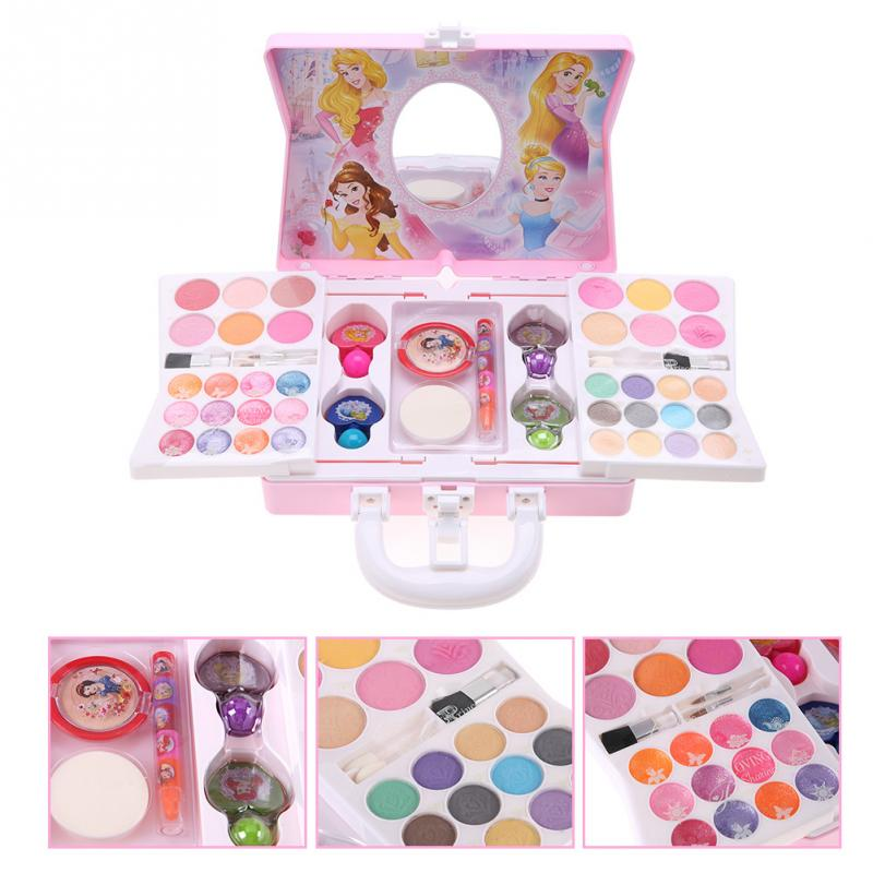 Disney Princess Cosmetics Play Set for Girls Kids Makeup kit Non toxic Lipstick Set with Mini