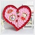 Caja hechos a mano base de jabón Romantic Rose Petal Flower Shape Nature Essential jabón de baño de aceite del día de san valentín día de la madre regalos