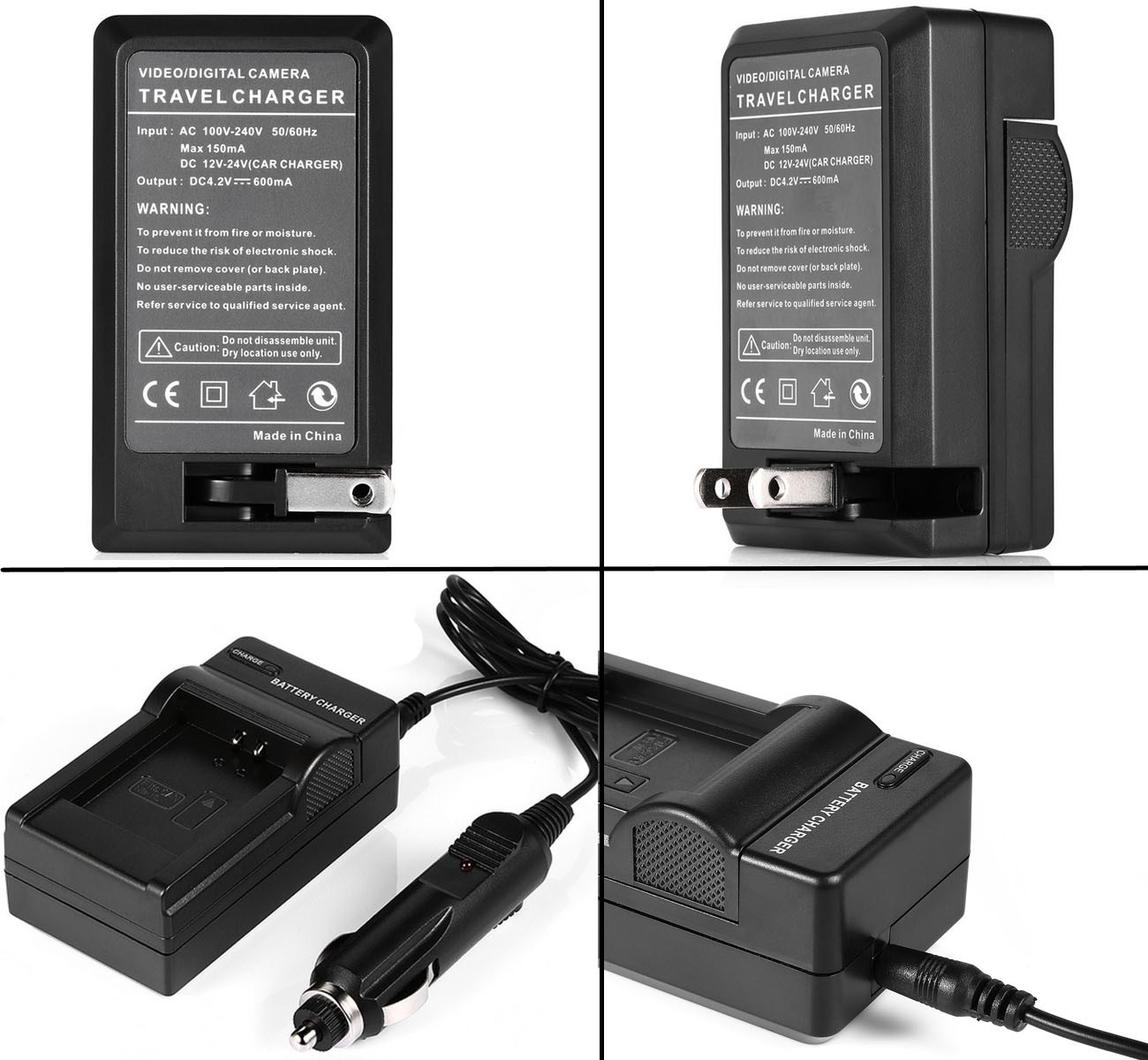 SC-D590 SC-D590T Digital Video Camcorder SC-D530T Battery 2 Pack and LCD USB Travel Charger for Samsung SC-D530